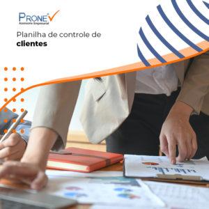 Banner Blog Pronome Planilha De Controle De Clientes - Prone Contabilidade